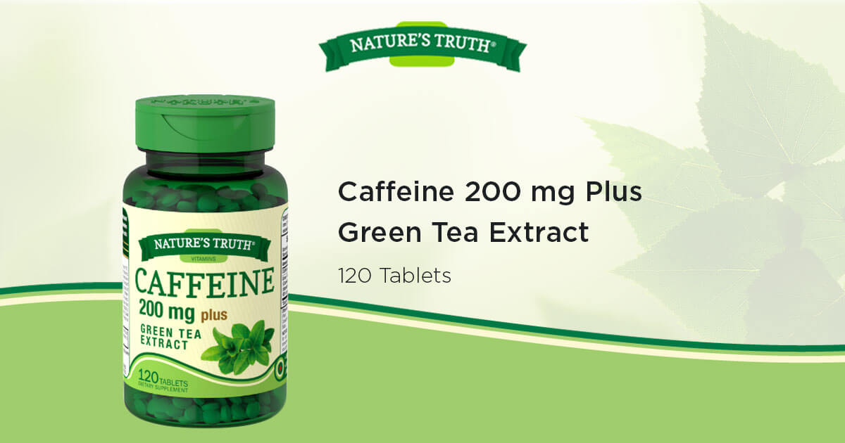 Caffeine 200 mg Plus Green Tea Extract Vitamins & Supplements by ...