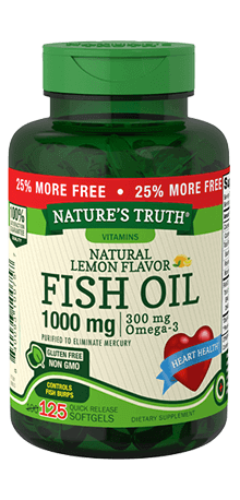 Omega-3 Fish Oil 1000 mg Natural Lemon Flavor