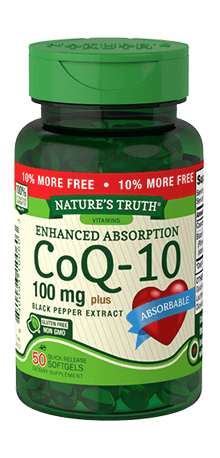 Enhanced Absorption CoQ-10 100 mg Plus Black Pepper Extract