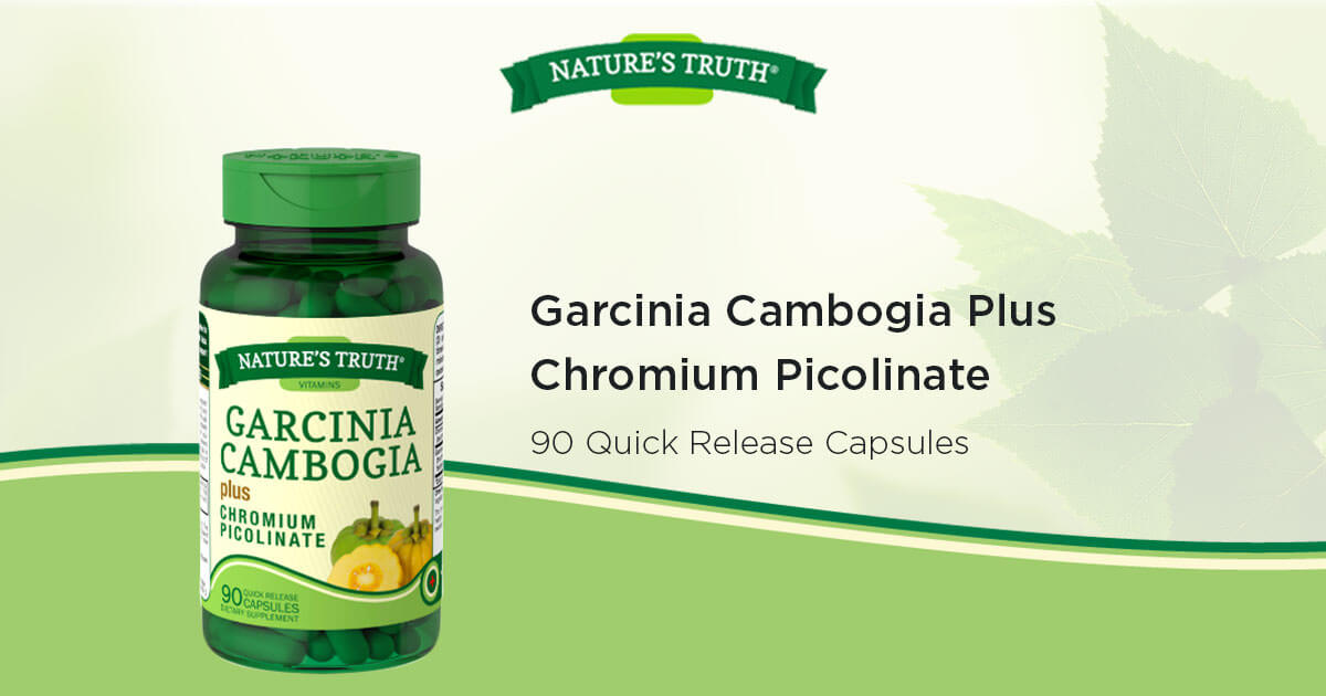 Garcinia Cambogia Plus Chromium Picolinate Vitamins Supplements