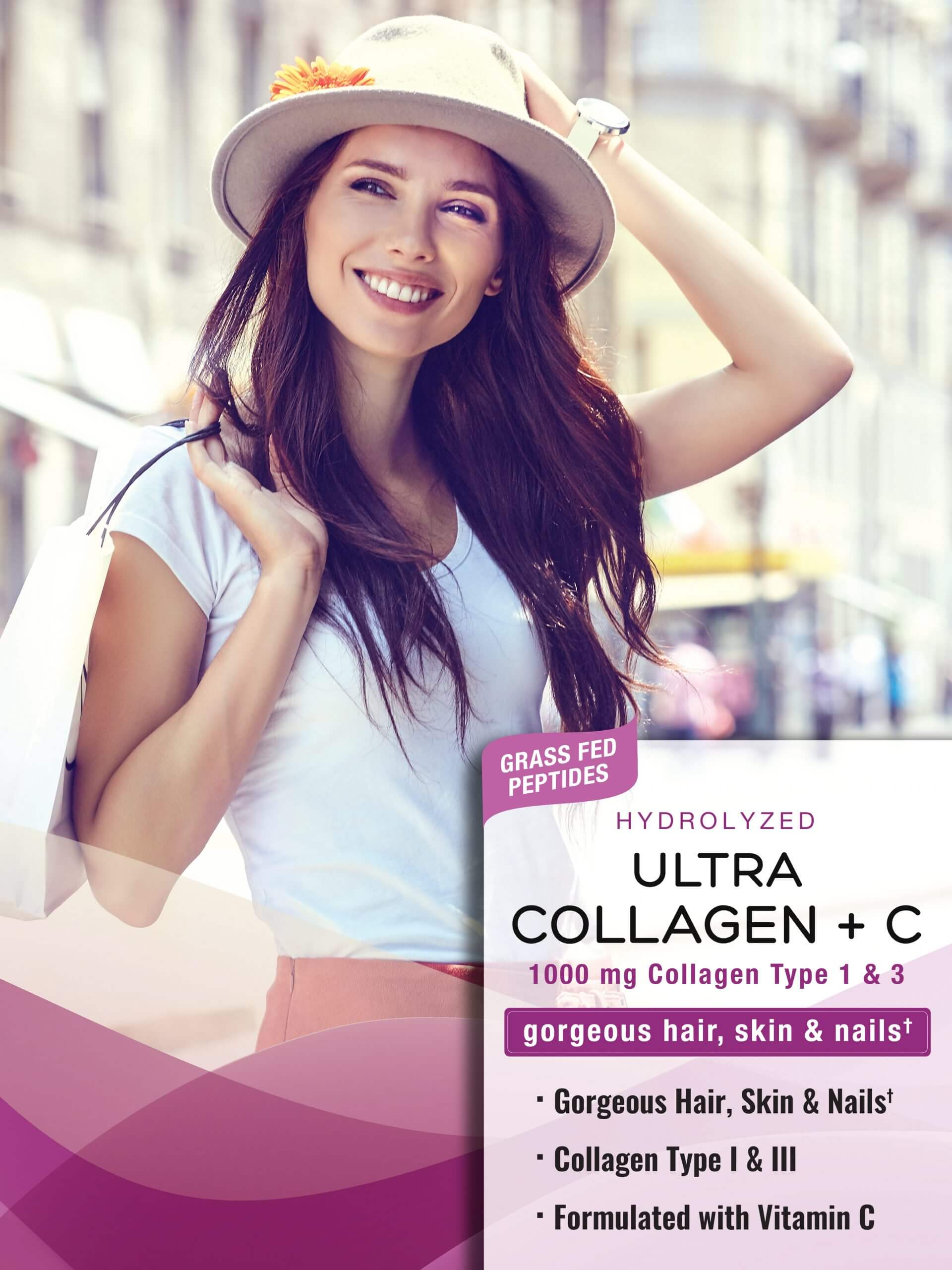 Hydrolyzed Collagen Type I & III <br>plus Vitamin C