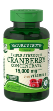 Triple Strength Cranberry Concentrate<br> 15,000 mg** plus Vitamin C
