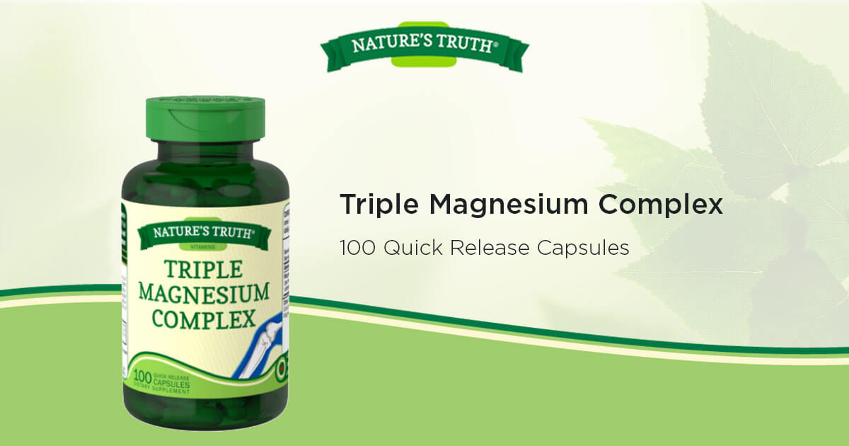 Triple Magnesium Complex Vitamins & Supplements by Nature's