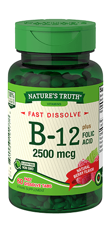 Vitamin B-12 2500 mcg plus Folic Acid