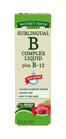 Sublingual B-Complex Liquid Plus B-12