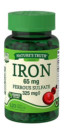 Iron 65 mg <br>Ferrous Sulfate 325 mg