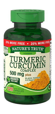 Turmeric Curcumin Complex 500 mg Plus Black Pepper Extract