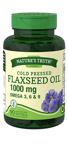 Cold Pressed Flaxseed Oil 1000 mg