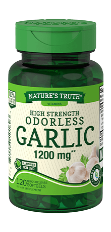 High Strength Odorless Garlic 1200 mg**