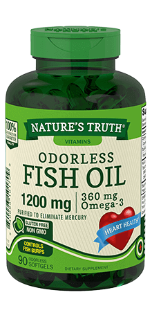 Odorless Lemon Flavor Fish Oil 1200 mg