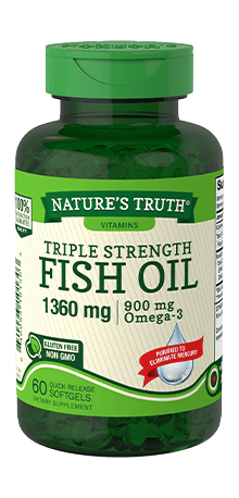Triple Strength Fish Oil 1360 mg <br>Omega-3 950 mg