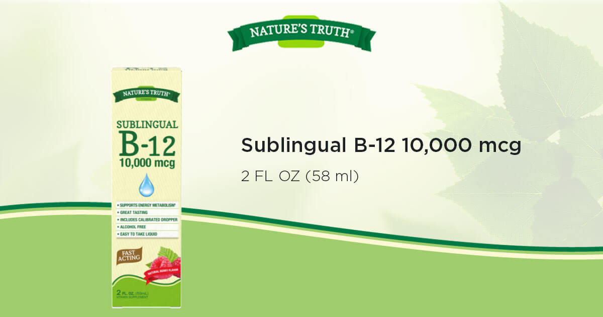 Sublingual B-12 10,000 mcg Vitamins & Supplements by Nature's Truth