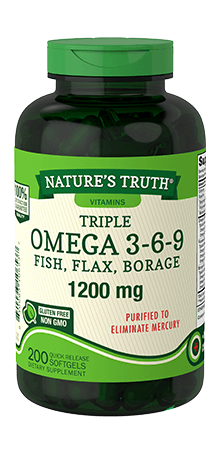 Triple Omega 3 6 9 Fish Flax Borage Nature S Truth