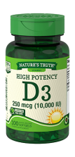 High Potency Vitamin D3 <br>250 mcg (10,000 IU)