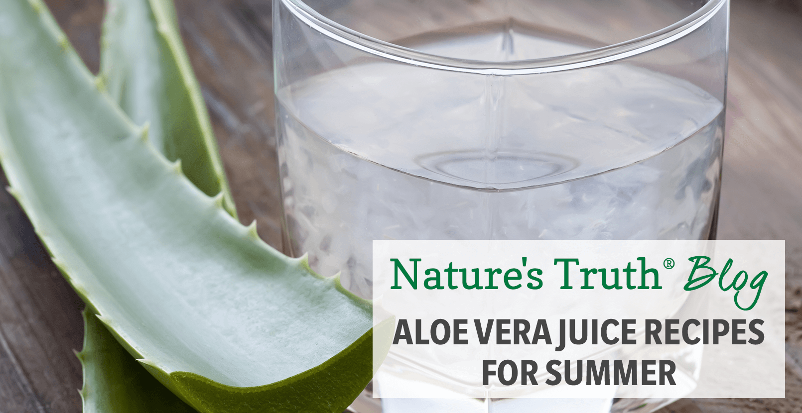 Summer Aloe Vera Juices