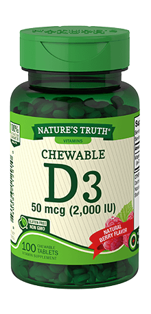 Chewable Vitamin D3 50 mcg (2,000 IU)