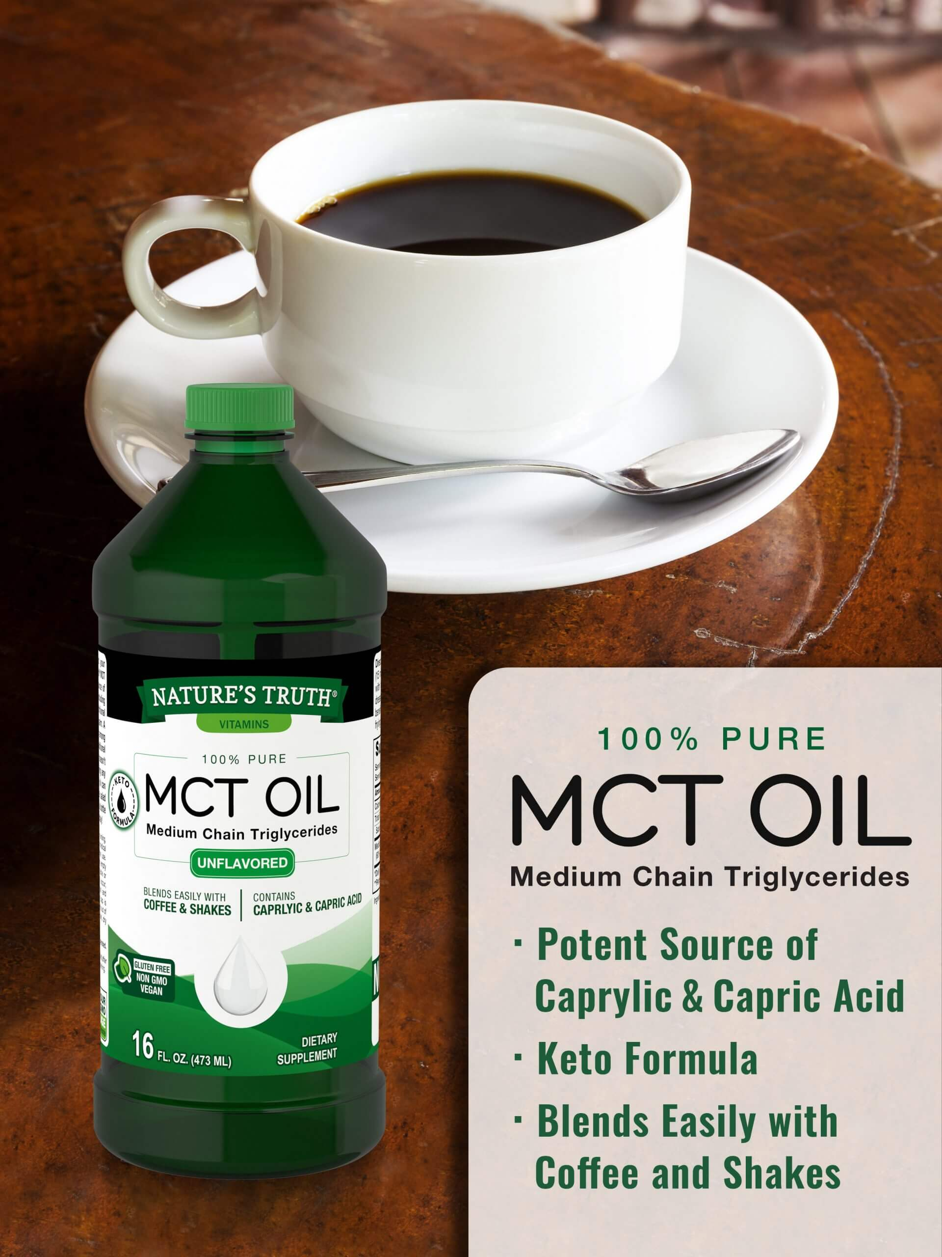 100% Pure Unflavored MCT Oil