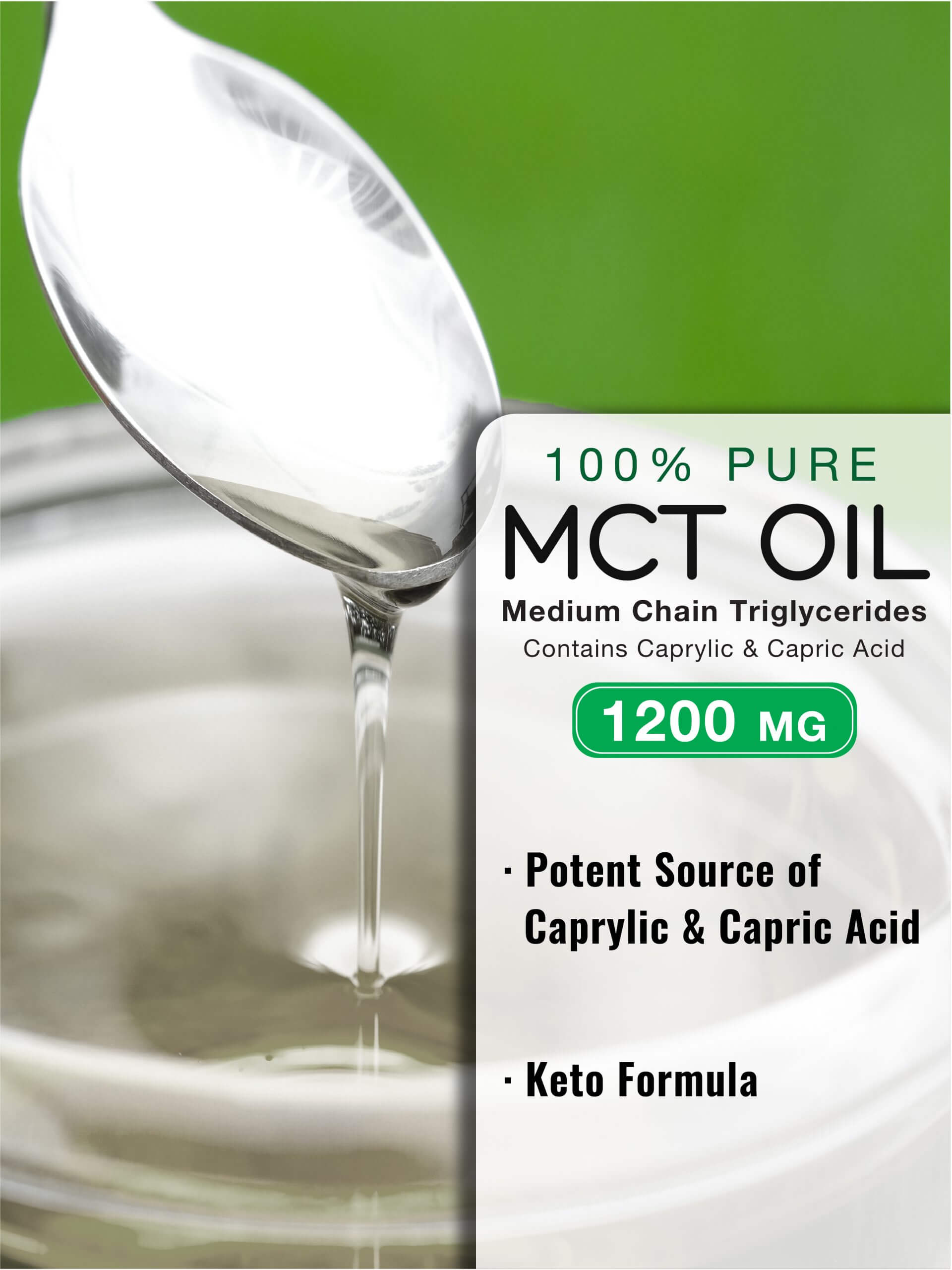 100% Pure MCT Oil Softgels 1200 mg