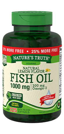 Natural Lemon Flavor Fish Oil 1000 mg