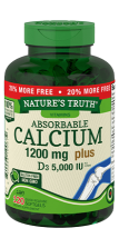 Absorbable Calcium 1200 mg <br>plus D3 125 mcg  (5,000 IU)