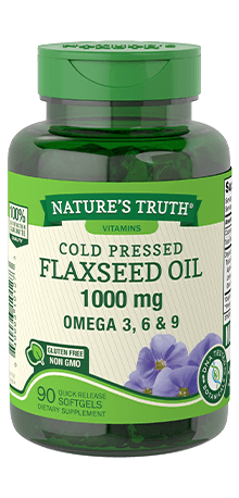 Cold Pressed Flaxseed Oil 1,000 mg