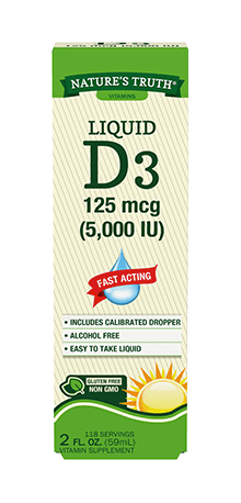 Liquid Vitamin D3 125 mcg (5,000 IU)