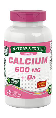 Calcium 600 mg <br>plus Vitamin D3