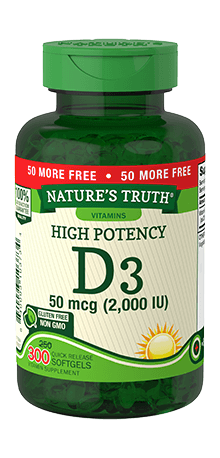 High Potency Vitamin D3 50 mcg (2,000 IU)